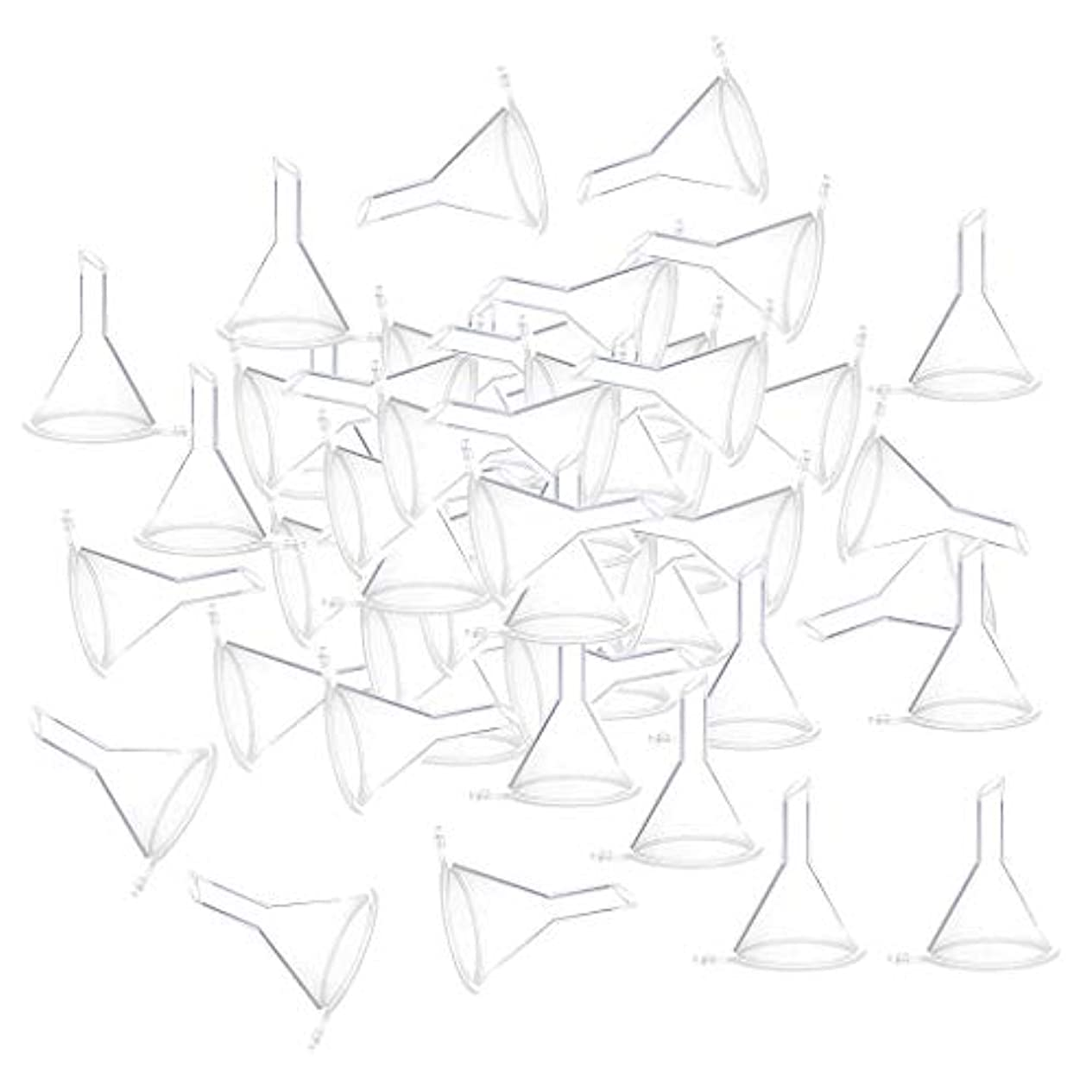 鯨名門書き出す全3色 100個 小瓶 香水瓶 バイアルのため ファンネル 漏斗 - クリア
