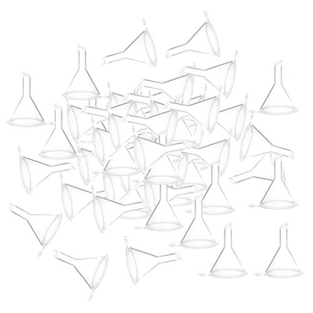 かみそりタイプライター青写真F Fityle 小分けツール ミニ ファンネル エッセンシャルオイル 液体 香水用 全100個 3カラー - クリア