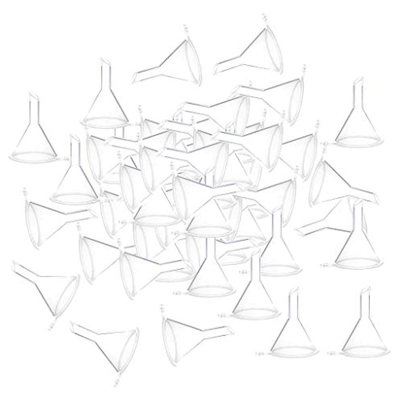 予備十億拒否全3色 100個 小瓶 香水瓶 バイアルのため ファンネル 漏斗 - クリア