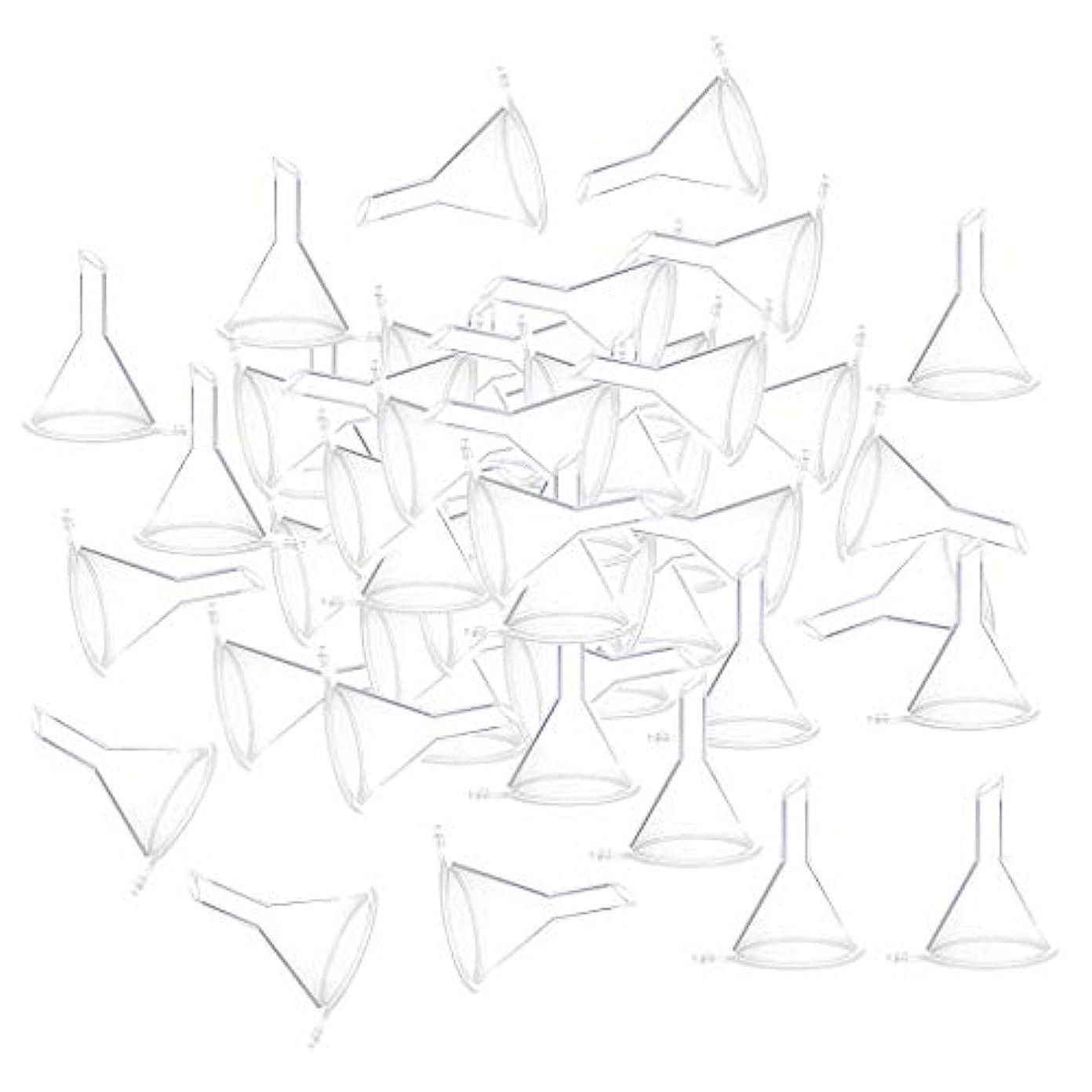 ホバート積極的に凶暴な小分けツール ミニ ファンネル エッセンシャルオイル 液体 香水用 全100個 3カラー - クリア