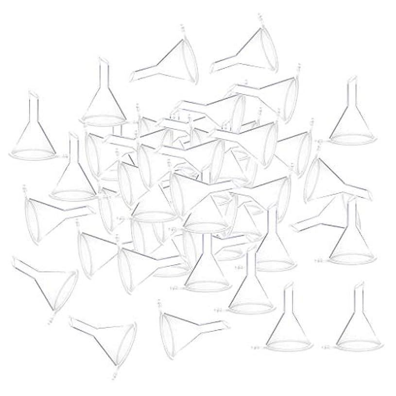 責任者トロピカル食欲F Fityle 小分けツール ミニ ファンネル エッセンシャルオイル 液体 香水用 全100個 3カラー - クリア