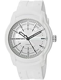 Diesel Watches Armbarホワイトシリコン3針腕時計 ホワイト