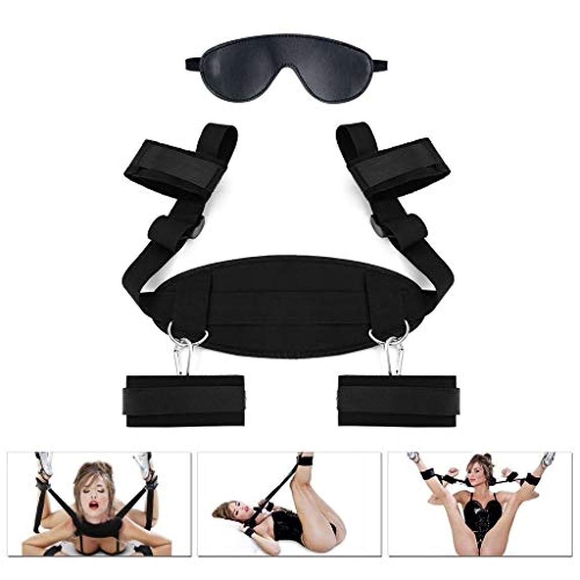 見落とす内側爆発するYUQIUSHU カップルのための調節可能な束縛セット、足首および手首の拘束具に適しています