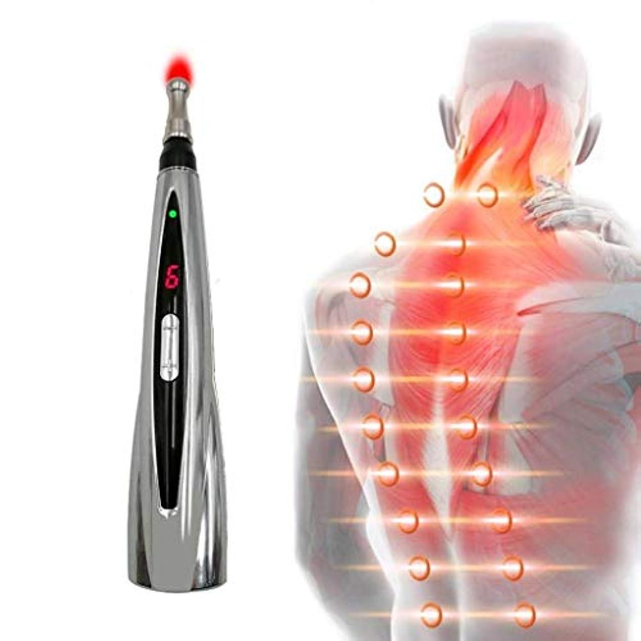 シルク適合しました受粉する経絡ペン、電気鍼ツボペンは痛みを和らげることができ、体の首と首に適した電子経絡エネルギーペンマッサージを扱います