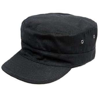 SWAT 特殊部隊 ミリタリー キャップ ブラック / 黒色 帽子 迷彩 サバゲー サバイバル グッズ 戦闘服 用 (60cm)