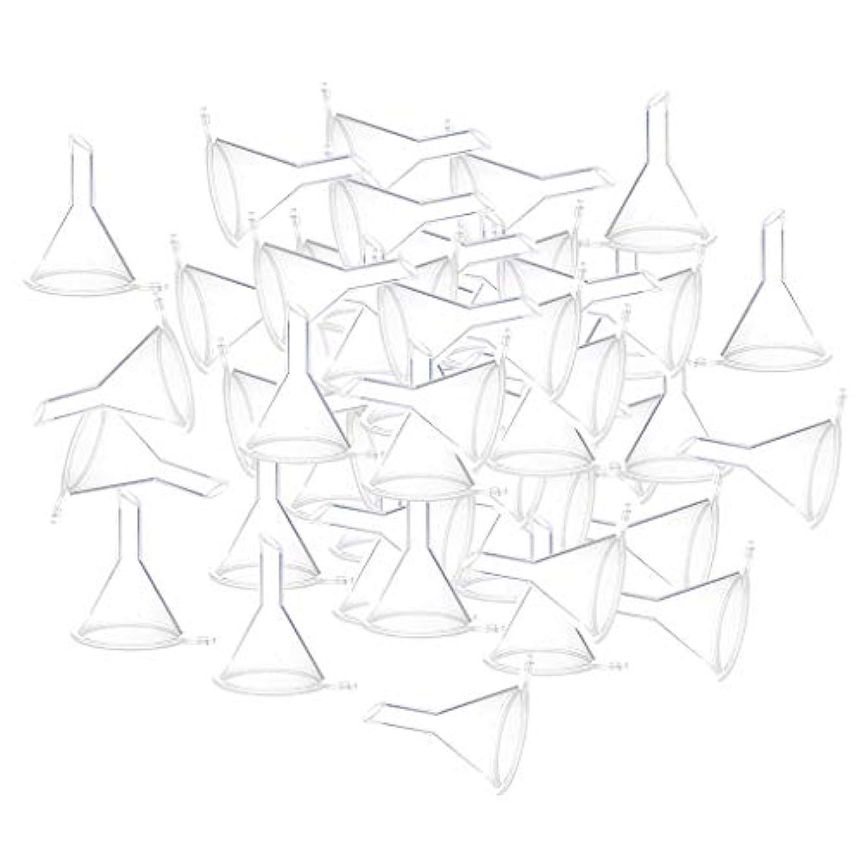 勉強する区画溶岩エッセンシャルオイル 液体 香水用 小分けツール ミニ ファンネル 100個入り 全3色 - クリア