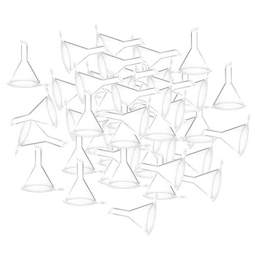 投げ捨てるファッションコカインエッセンシャルオイル 液体 香水用 小分けツール ミニ ファンネル 100個入り 全3色 - クリア