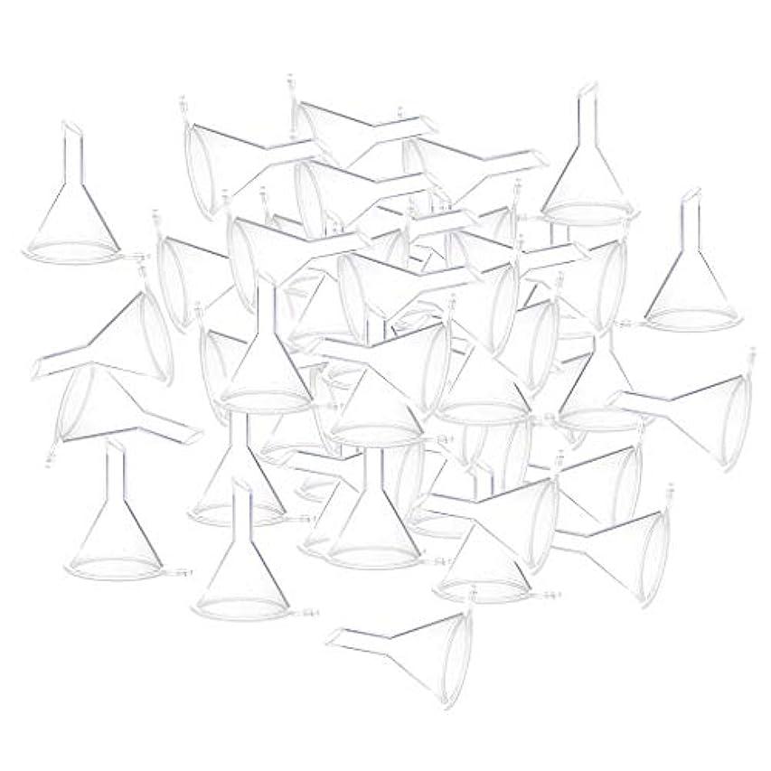 必需品速報幾何学エッセンシャルオイル 液体 香水用 小分けツール ミニ ファンネル 100個入り 全3色 - クリア