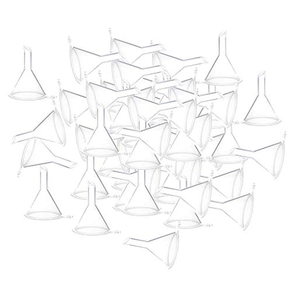 物質敬なコミットエッセンシャルオイル 液体 香水用 小分けツール ミニ ファンネル 100個入り 全3色 - クリア