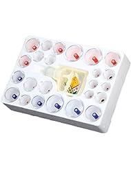 カッピング 吸い玉 Mountain top 【 8種 24個セット 磁針 12個 関節用カップリング付 】 脂肪吸引 自宅エステ