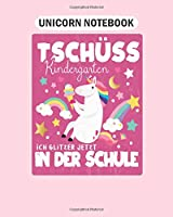 Unicorn Notebook: enrolment 1st school day unicorn gift  College Ruled - 50 sheets, 100 pages - 8 x 10 inches