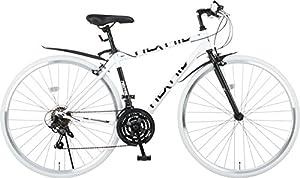 Nex Tyle(ネクスタイル) クロスバイク 700C シマノ製21段変速 NX-7021 適用身長155cm以上 (ホワイト)
