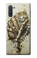 JP0550G10 スカルカードポーカー Skull Card Poker Samsung Galaxy Note 10 ケース