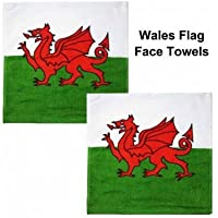 Wales Flag Face Towels by Wales f.a。