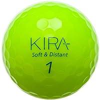 キャスコ(Kasco) キラ ソフト&ディスタント ゴルフボール KIRAライム 1ダース(12個入) 38036