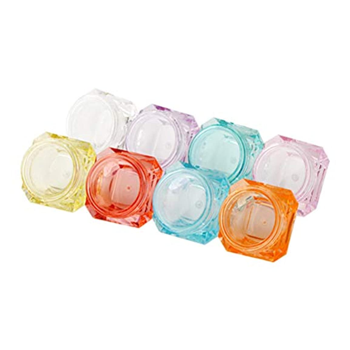 結核プロット切るFrcolor 40ピース クリームケース 小分け プラスチックハート型化粧ポット 詰め替え容器 携帯用 旅行用品