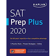 SAT Prep Plus 2020: 5 Practice Tests + Proven Strategies + Online