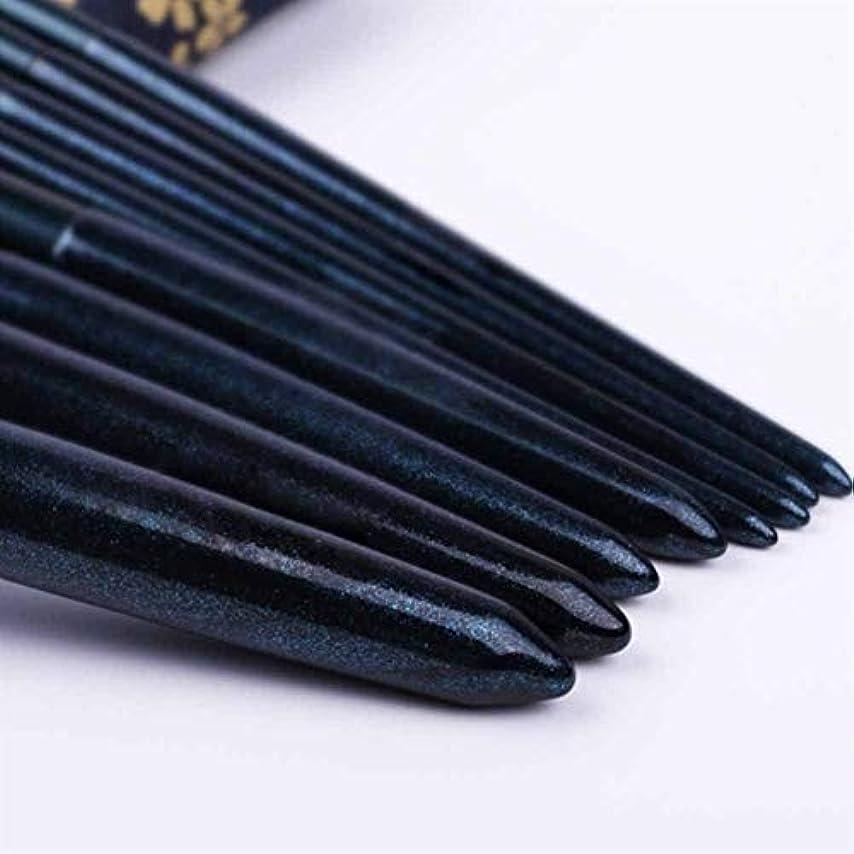 タワーハチ黒XIAOCHAOSD メイクブラシ、収納袋、簡単で8つのメイクブラシセット、初心者美容ツール、ソフトな風合いは、運ぶために (Color : Blue)