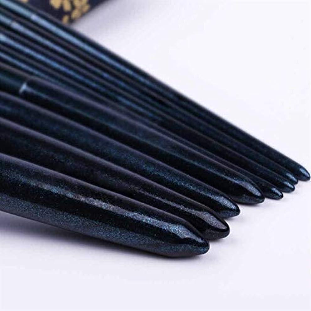 首麻痺させるドラフトXIAOCHAOSD メイクブラシ、収納袋、簡単で8つのメイクブラシセット、初心者美容ツール、ソフトな風合いは、運ぶために (Color : Blue)