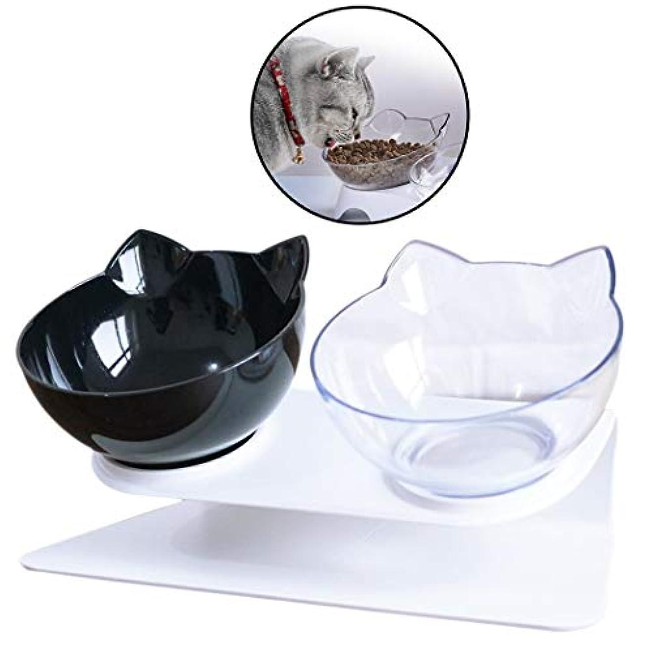 注入する不承認保護LIFEペットボウル創造的なノンスリップベースダブルボウル猫犬ボウル猫のボウル猫犬食品水飲料フィーダーボウルペット用品ペット食器