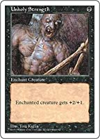 英語版 第5版 Fifth Edition 5ED 邪悪なる力 Unholy Strength マジック・ザ・ギャザリング mtg