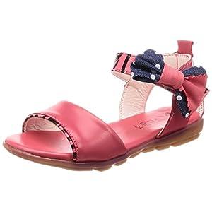 (チェリーレッド) CherryRed 子供靴 女の子 お嬢様 ジュニア 歩きやすい ビーチサンダル 柔らかい 真夏靴 かわいい 小さいサイズ 大きいサイズ リボン 34 レッド