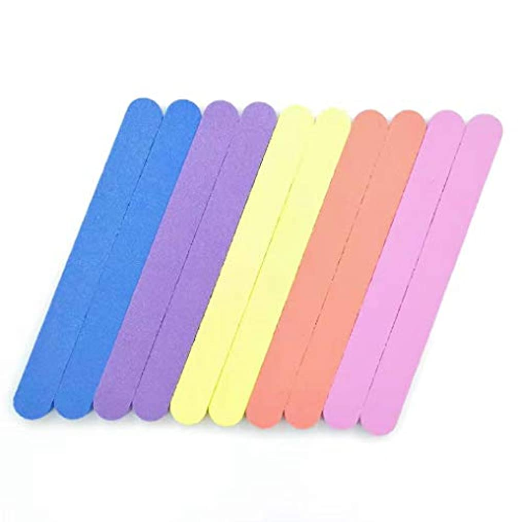 合法胆嚢夕暮れ爪やすり スポンジ 爪磨き 両面タイプ ネイルツール ネイルファイル プロ仕様 10本 5色