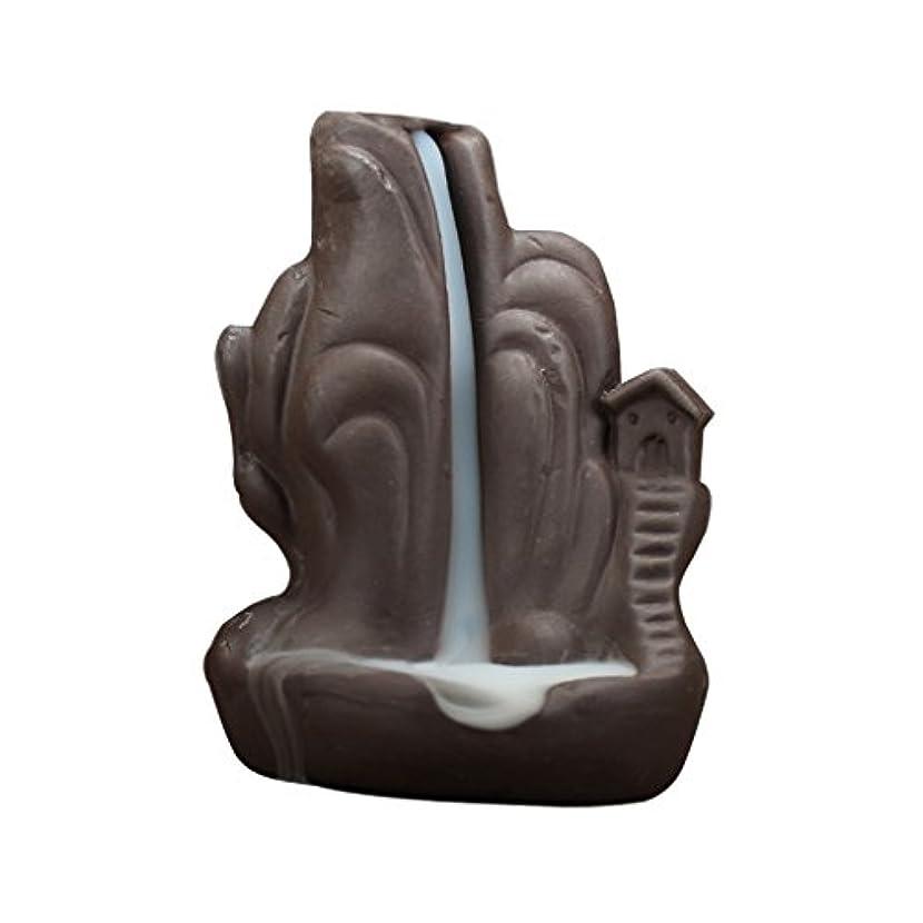 谷階下位置する全4種 繊細 絶妙 デザイン 磁器 逆流香 香炉 仏壇 古典的 装飾 - 2#
