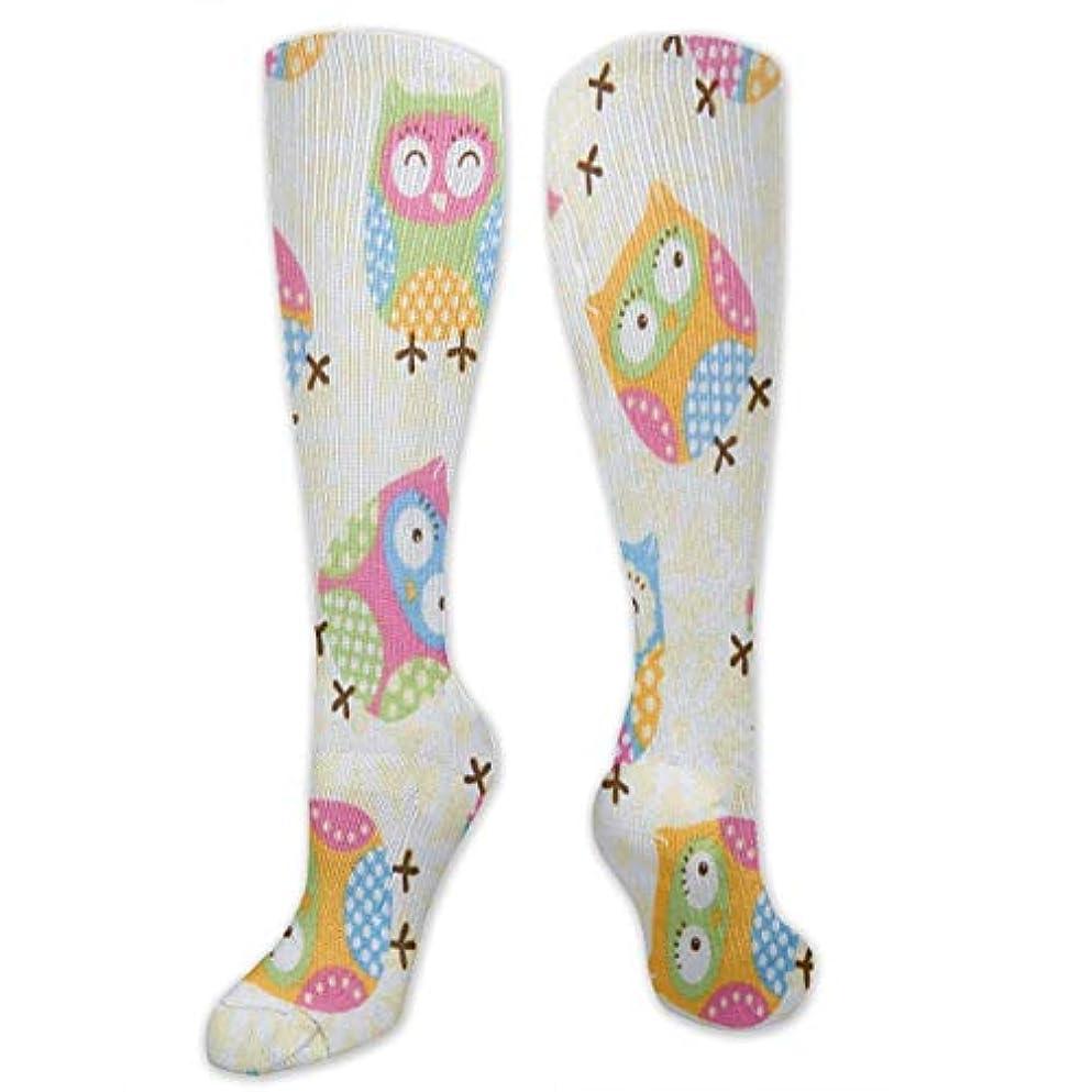 巻き戻すスラッシュ虐殺靴下,ストッキング,野生のジョーカー,実際,秋の本質,冬必須,サマーウェア&RBXAA Color Owl Pictures Socks Women's Winter Cotton Long Tube Socks Knee...