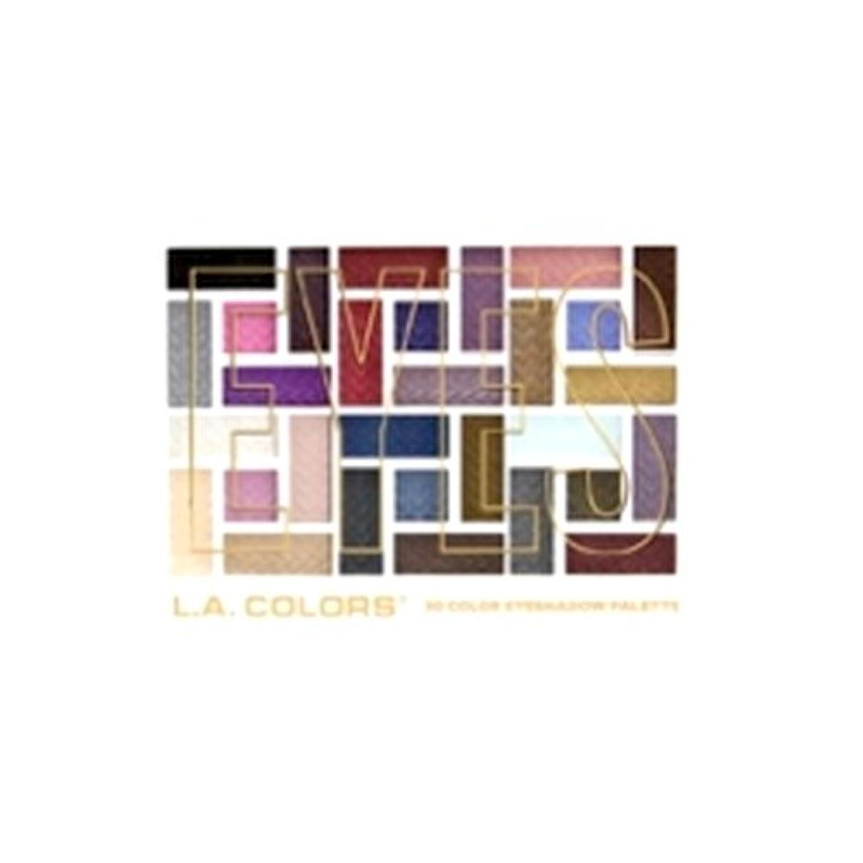 一部コントロールカメラL.A. COLORS 30 Color Eyeshadow Palette - Back To Basics (並行輸入品)