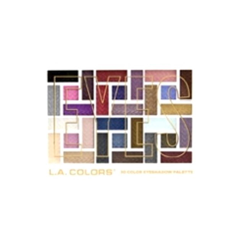 牛過言霊L.A. COLORS 30 Color Eyeshadow Palette - Back To Basics (並行輸入品)