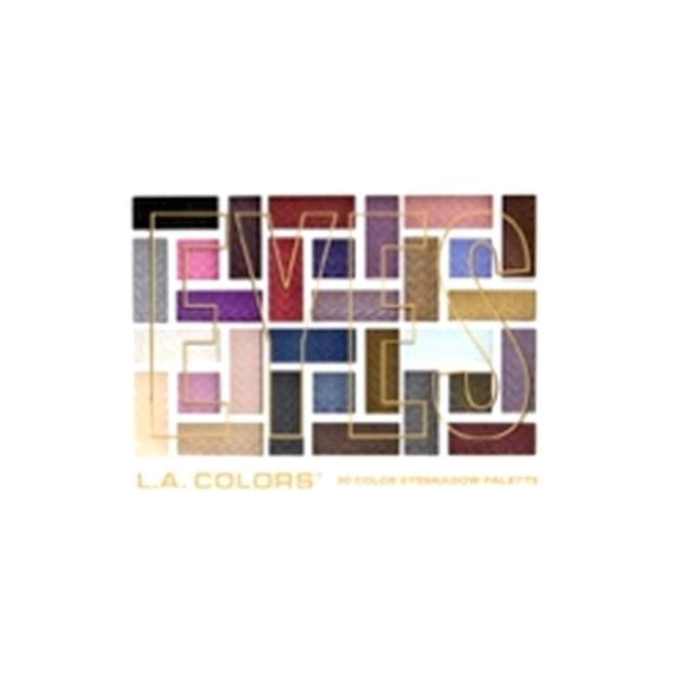 母音樫の木器官L.A. COLORS 30 Color Eyeshadow Palette - Back To Basics (並行輸入品)