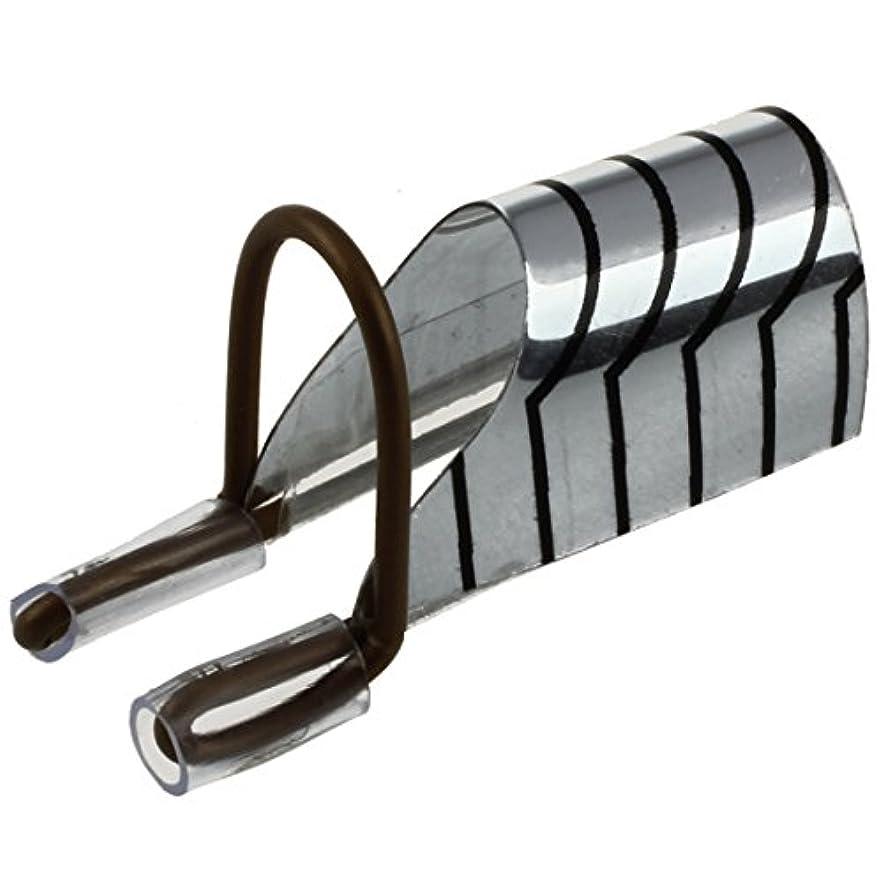 獲物偽善要求するSODIAL(R) 5個再利用可能なネイルアートフォームのUVジェルフレンチアクリルヒントプロテクターツール銀箔W/ ボックス