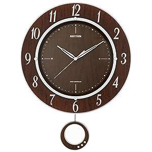 掛け時計 電波時計 振子 トライメテオDX リズム時計 8MX403SR23