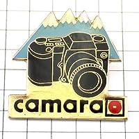 限定 レア ピンバッジ 一眼レフ写真カメラと雪山 ピンズ フランス