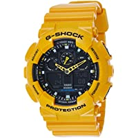 GSHOCK Men's Automatic Wrist Watch analog-digital Display and Resin Strap, GA100A-9A