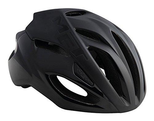 MET(メット) Rivale リヴァーレ HES ロードバイクヘルメット (black, L) [並行輸入品]