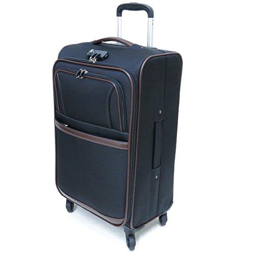 [ビバーシェ] Vivache SP-RⅡ-M ソフトキャリーケース 3.5kg・50L 空港受託手荷物無料サイズ 縦型 4輪キャスター (ブラック)