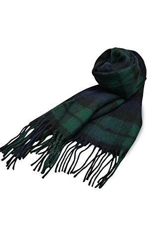 英国王室ご愛用 Lochcarron of scotland ロキャロン ラムズウール100% タータンチェックマフラー全42柄 (...
