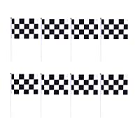 Toyvian Black and White Checkered Racing Flag for Race Car Theme Party Decorations30pcs [並行輸入品]