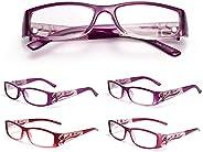 (レンサン) LianSan老眼鏡 レディース おしゃれ スクエア リーディンググラス シニアグラス ケース付き L3711 グラデーション・パープル +4.00