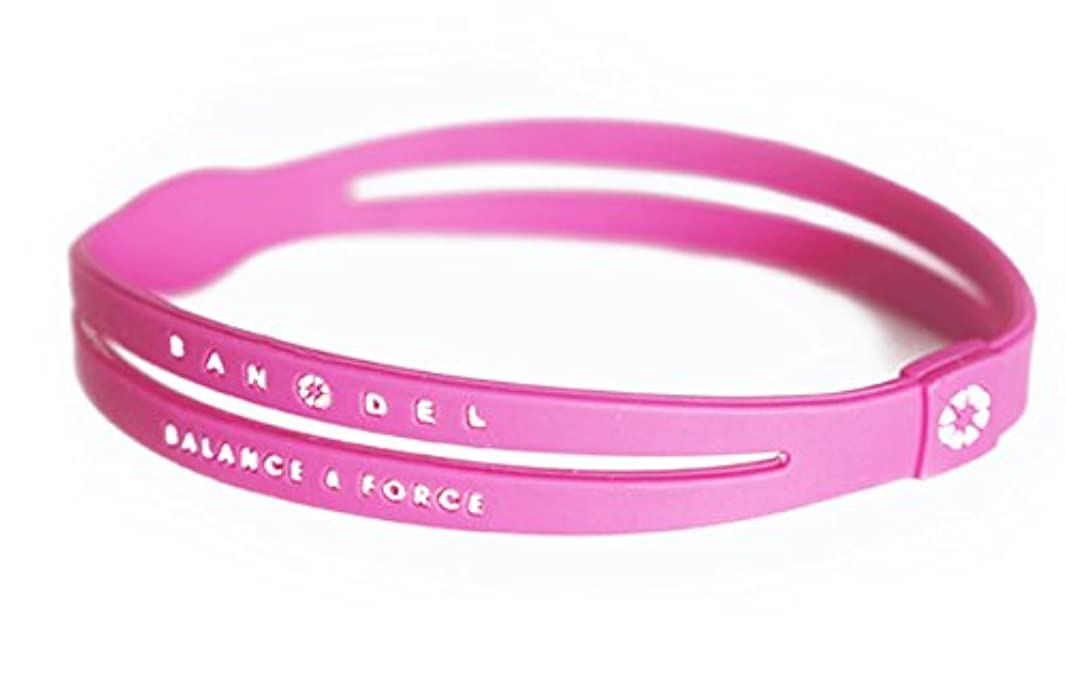 悲鳴適合する歩行者バンデル(BANDEL) アンクレット [Pink×White?ピンク×ホワイト?Lサイズ]