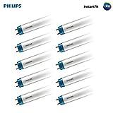 Philips LED 469601 インスタントフィット 調光機能付き 4フィート T8 チューブ電球 2000ルーメン 3000ケルビン 14(32ワット相当) ミディアムバイピンG13ベース ウォームホワイト(3000K) 10個パック