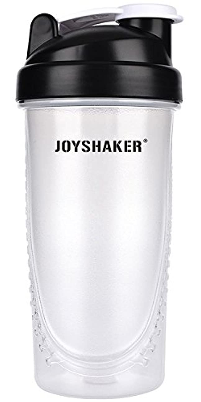 変化する用心ご意見joyshaker Protein Shaker Bottlesスポーツに漏れ防止BPA GymsスポーツShaker Cup withミキサー28oz