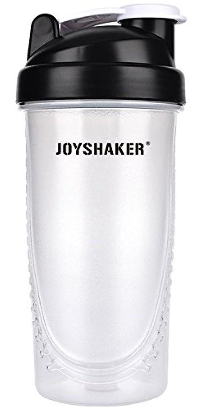 羨望縞模様のなしでjoyshaker Protein Shaker Bottlesスポーツに漏れ防止BPA GymsスポーツShaker Cup withミキサー28oz