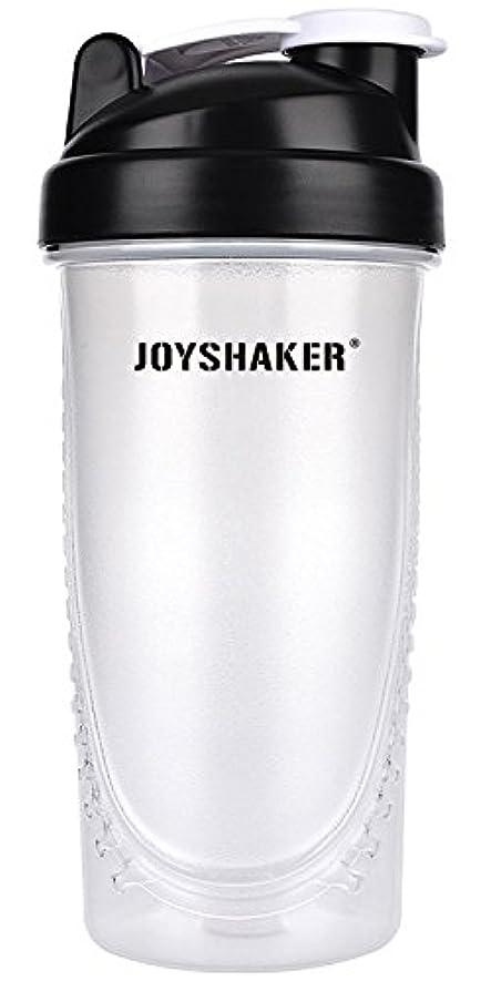 楕円形経過漏れjoyshaker Protein Shaker Bottlesスポーツに漏れ防止BPA GymsスポーツShaker Cup withミキサー28oz