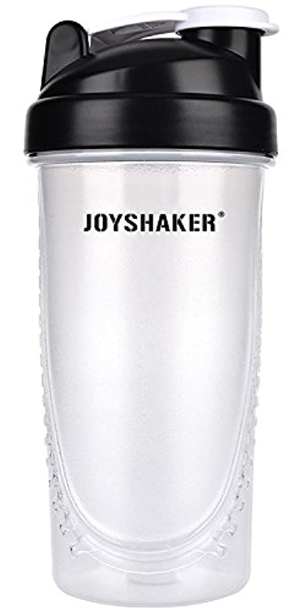 joyshaker Protein Shaker Bottlesスポーツに漏れ防止BPA GymsスポーツShaker Cup withミキサー28oz