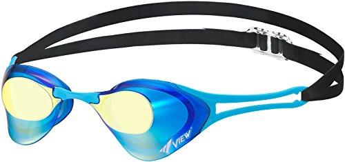 ビュー(VIEW) スイミング 競泳用 ゴーグル ミラータイプ ブレードゼロ Fina承認