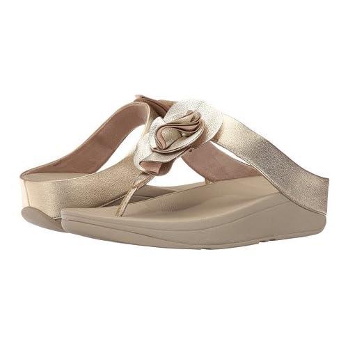(フィットフロップ)FitFlop レディースサンダル・靴 Florrie Toe-Post Pale Gold 6 23cm M (B) [並行輸入品]