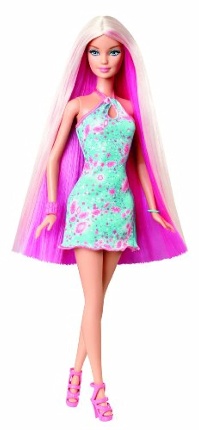 Barbie Hairtastic Blue Dress Long Blonde Hair Doll